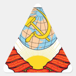 Emblema nacional de Unión Soviética Pegatinas De Trianguladas