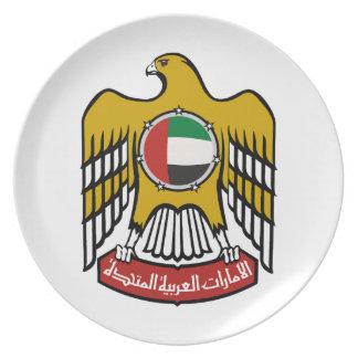 Emblema nacional de United Arab Emirates Plato
