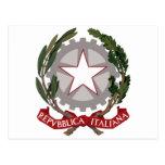 Emblema nacional italiano postal