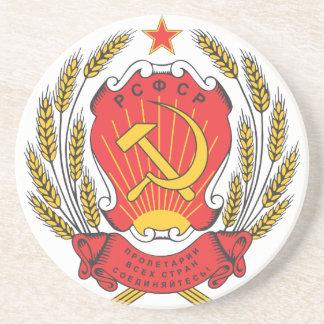 Emblema nacional socialista de Rusia Posavasos Manualidades