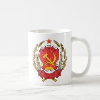Emblema nacional socialista de Rusia Taza Básica Blanca