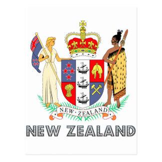 Emblema neozelandés tarjeta postal