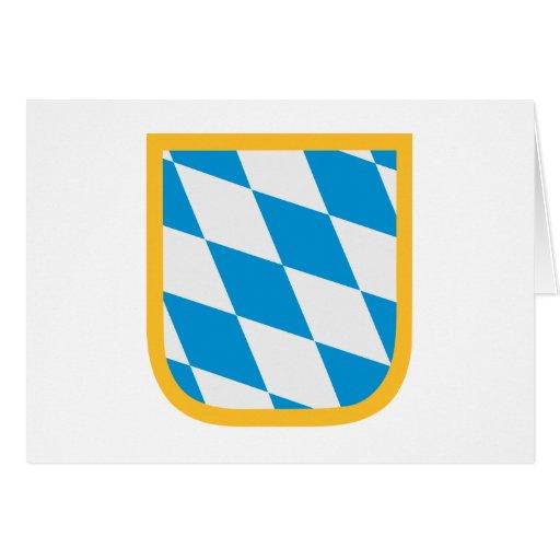 Emblema Oktoberfest de la bandera de Baviera Tarjeta
