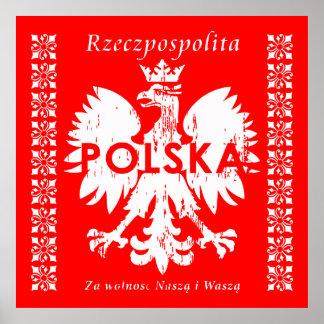 Emblema polaco de Polonia Rzeczpospolita Polska Póster
