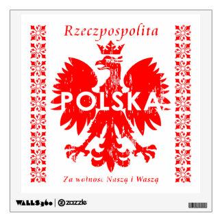 Emblema polaco de Rzeczpospolita Polska Eagle Vinilo Decorativo
