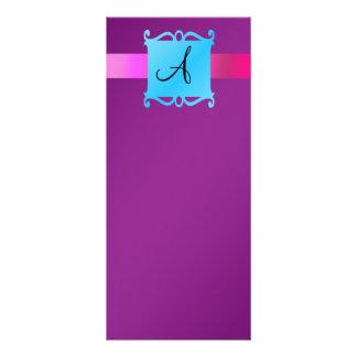 Emblema púrpura de la suposición del monograma lona