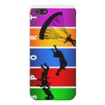 Emblema que se lanza en paracaídas multicolor iPhone 5 cárcasa