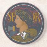 Emblema romano del vintage de Italia SPQR Posavasos Personalizados