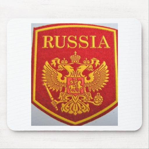 emblema ruso George y dragón Alfombrillas De Ratón