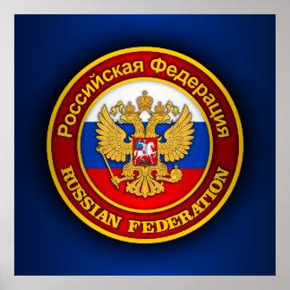 Emblema ruso póster
