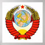Emblema soviético impresiones
