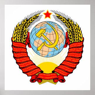 Emblema soviético póster