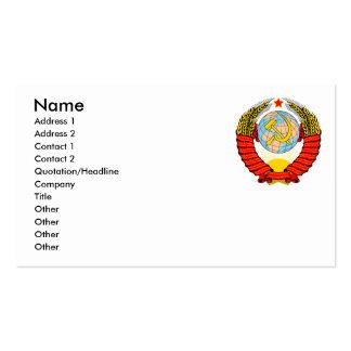 Emblema soviético tarjetas de visita