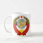 Emblema soviético taza