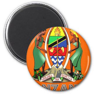 Emblema tanzano imán para frigorífico