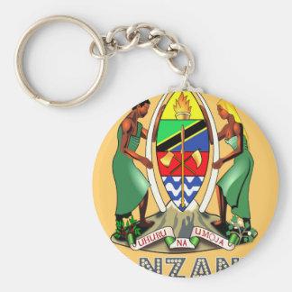 Emblema tanzano llavero