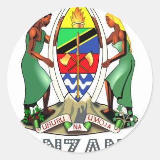 Emblema tanzano pegatina redonda