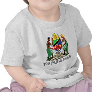Emblema tanzano camisetas