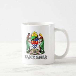Emblema tanzano taza de café