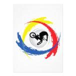 Emblema tricolor de BMX Anuncio Personalizado