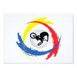 Emblema tricolor de BMX Invitación 12,7 X 17,8 Cm
