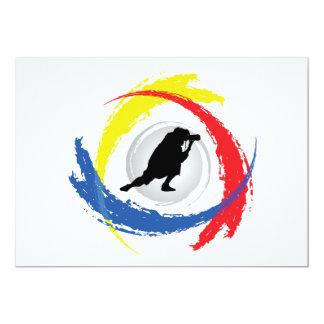 """Emblema tricolor de la fotografía invitación 5"""" x 7"""""""