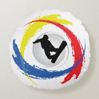 Emblema tricolor de la snowboard fresca