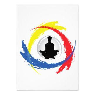 Emblema tricolor de la yoga comunicado personal