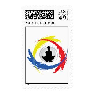 Emblema tricolor de la yoga sello