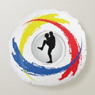 Emblema tricolor del béisbol fresco