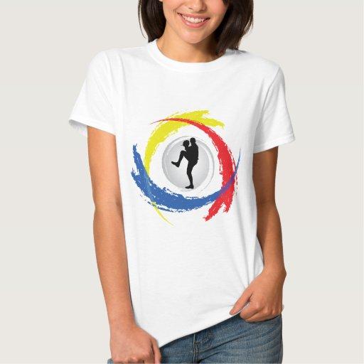 Emblema tricolor del béisbol playeras