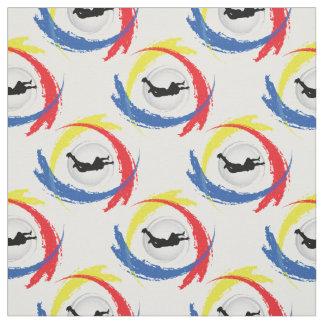Emblema tricolor del deporte del paracaidismo telas