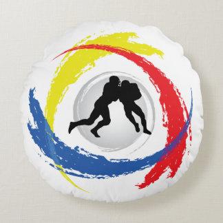 Emblema tricolor del fútbol fresco