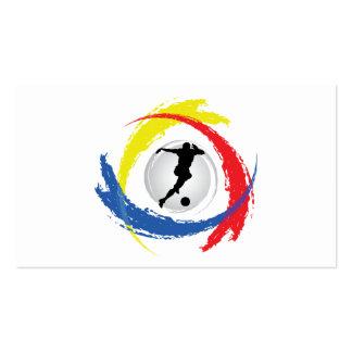 Emblema tricolor del fútbol tarjetas de visita