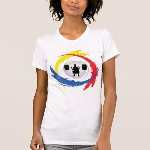Emblema tricolor del levantamiento de pesas camiseta