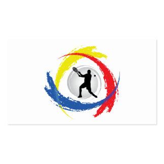 Emblema tricolor del tenis (varón) tarjetas de visita
