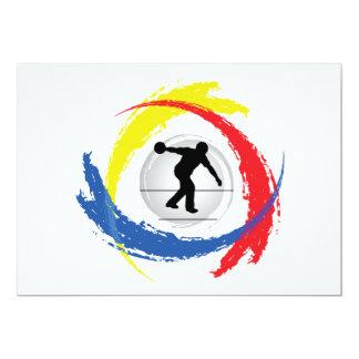 """Emblema tricolor que rueda invitación 5"""" x 7"""""""