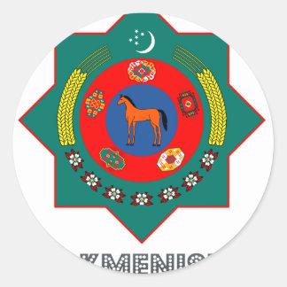 Emblema turcomano etiquetas redondas