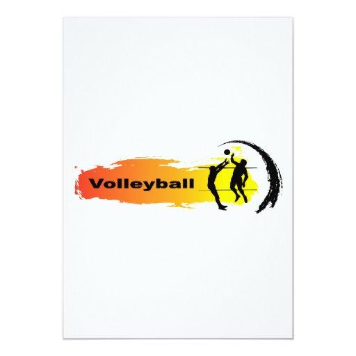 """Emblema único del voleibol invitación 5"""" x 7"""""""