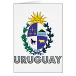 Emblema uruguayo tarjeta