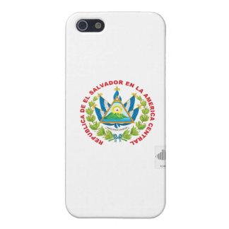 emblema y código de barras de El Salvador iPhone 5 Protector
