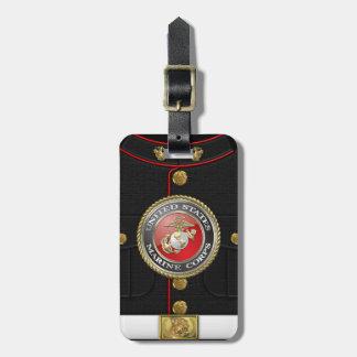 Emblema y uniforme [3D] del USMC Etiquetas De Maletas