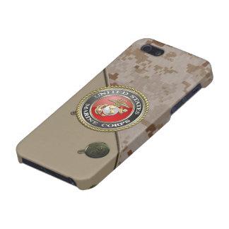 Emblema y uniforme [3D] del USMC iPhone 5 Fundas