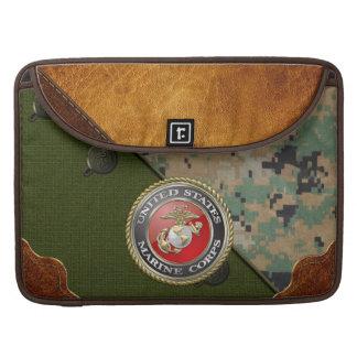Emblema y uniforme [3D] del USMC Funda Para Macbooks