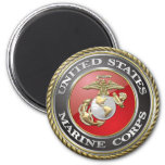 Emblema y uniforme [3D] del USMC Iman Para Frigorífico