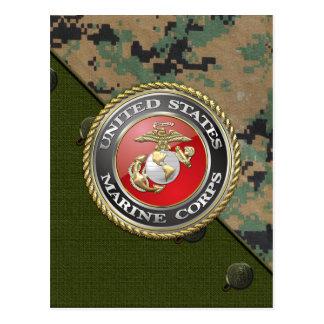 Emblema y uniforme [3D] del USMC Postales