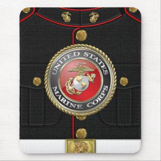 Emblema y uniforme [3D] del USMC Tapetes De Raton