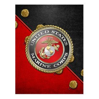 Emblema y uniforme [3D] del USMC Tarjeta Postal