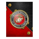 Emblema y uniforme [3D] del USMC Tarjetas Postales