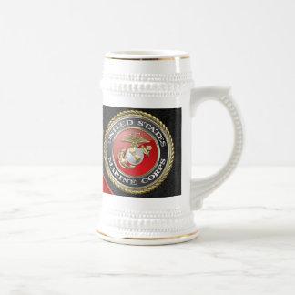 Emblema y uniforme [3D] del USMC Tazas De Café